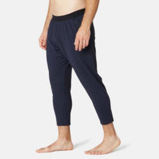 Oferta de Pantalones 7/8 Chándal Fitness Slim 560 Hombre Azul Oscuro por 19,99€