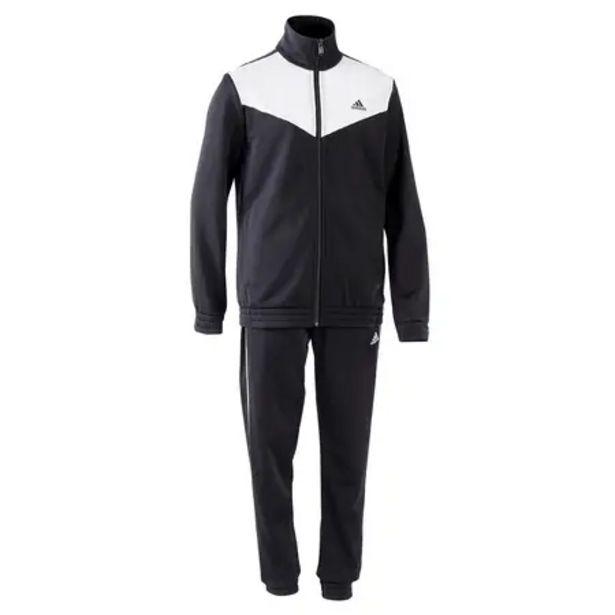 Oferta de Chándal Adidas niñas niños negro y blanco por 24,99€