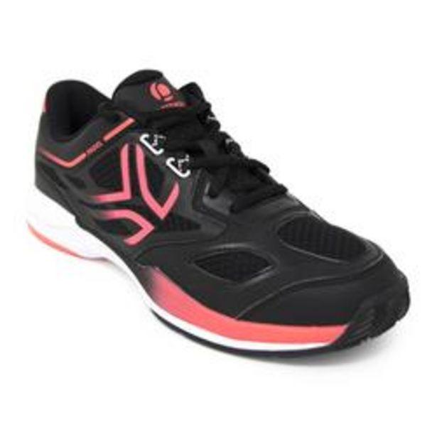 Oferta de Zapatillas de pádel Mujer PS560 negro rosa por 24,99€
