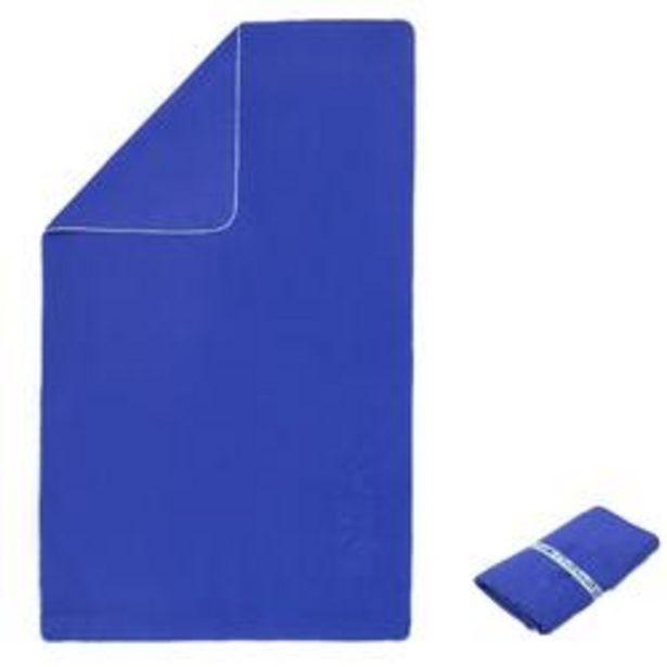 Oferta de Toalla Baño Piscina Natación Nabaiji Microfibra Compacta Talla L Azul Oscuro por 3,99€