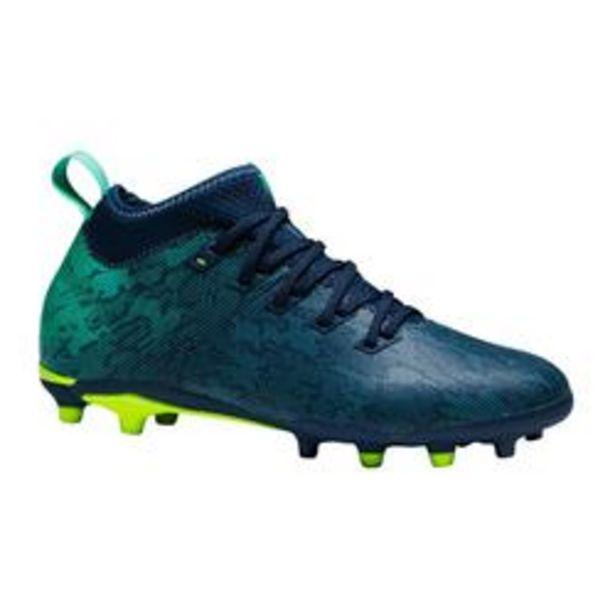 Oferta de Botas de Fútbol Kipsta Agility 900 FG niños azul verde por 19,99€