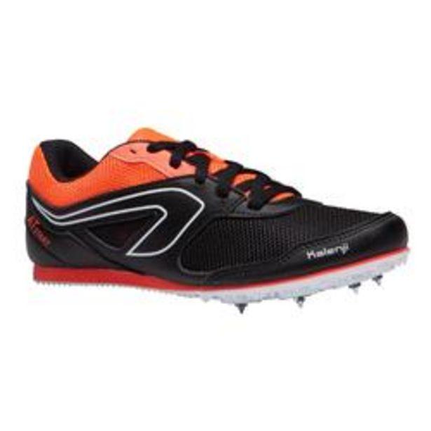 Oferta de Zapatillas De Atletismo Kalenji Adultos y Niños Negras Naranja Con Clavos por 19,99€