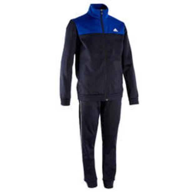 Oferta de Chándal niño niña Adidas gimnasia deportiva azul marino por 24,99€