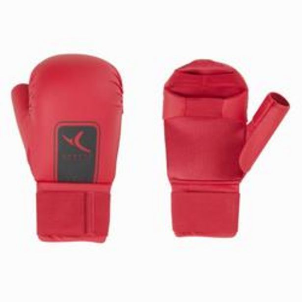 Oferta de Mitones Karate Domyos Adulto Rojo por 9,99€