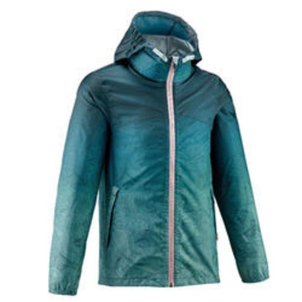 Oferta de Chaqueta Impermeable de Montaña y Trekking Quechua MH150 Niños Verde Azul por 9,99€