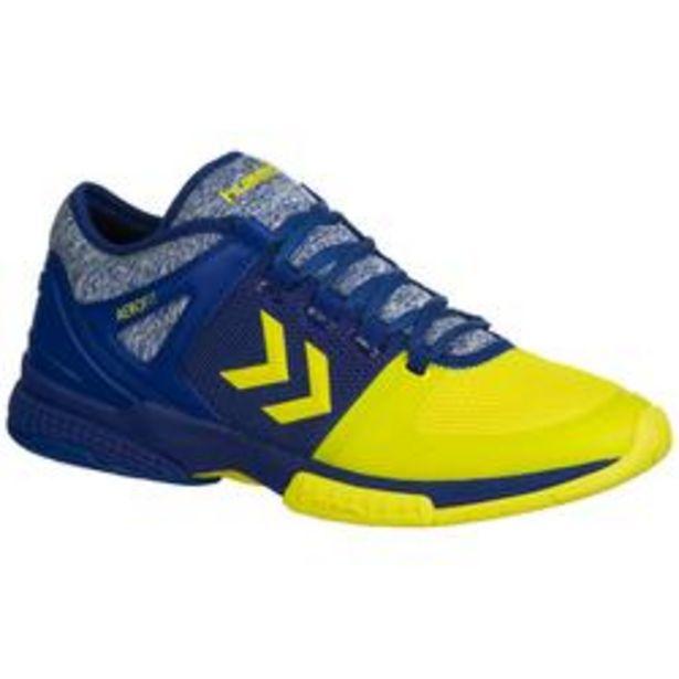 Oferta de Zapatillas de Balonmano Hummel Aerocharge HB200 Speed 3.0 Adulto Azul Amarillo por 64,99€