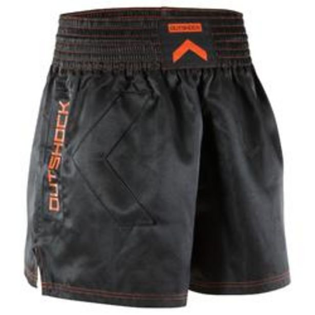 Oferta de Short Kick Boxing, Muay Thai adulto Outshock 500 negro por 9,99€
