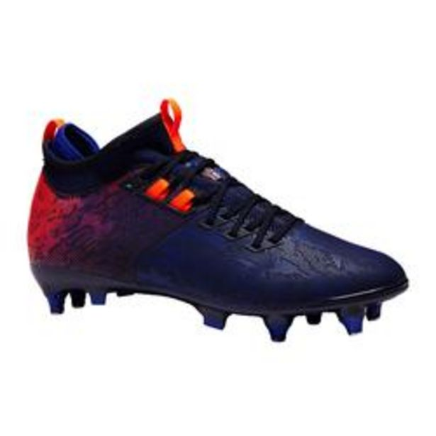 Oferta de Botas de Fútbol Kipsta Agility 900 Mid SG adulto azul naranja por 29,99€