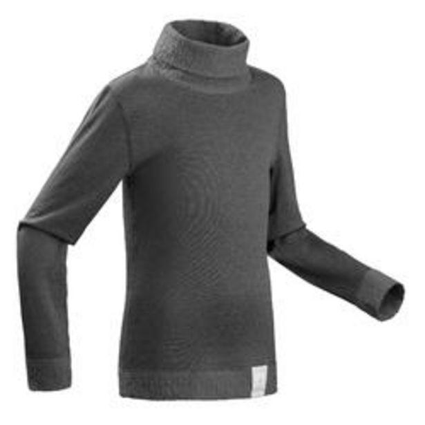 Oferta de Camiseta Térmica de Esquí y Nieve Interior Niños Wedze 2 Warm Gris Reversible por 6,99€