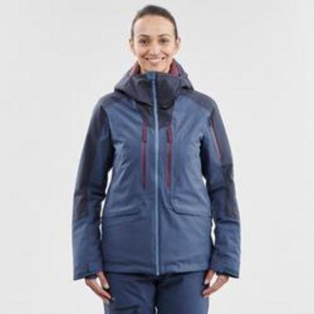 Oferta de Abrigo Chaqueta esquí y nieve wed'ze mujer FR500 Azul por 74,99€
