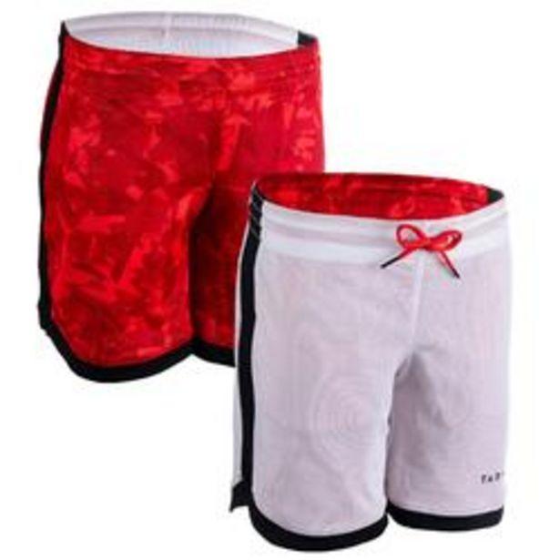 Oferta de Pantalón Baloncesto Tarmak SH500 reversible niños rojo blanco por 7,99€