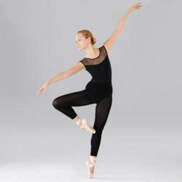 Oferta de Maillot Ballet Domyos Mujer Con Encaje Negro por 12,99€