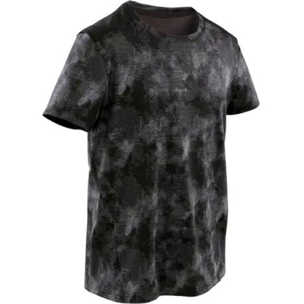 Oferta de Camiseta transpirable negro y gris estampado NIÑOS por 5,99€