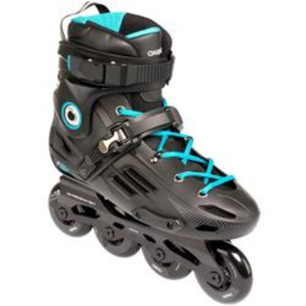 Oferta de Roller En línea Freeride Hardboot adulto MF500 Negro Azul por 69,99€