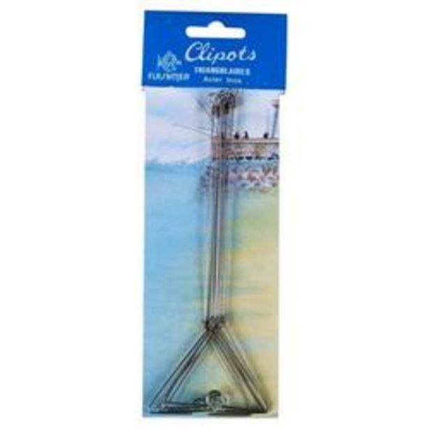 Oferta de Clipots triangulares 20 cm x5 pesca en el mar por 1,99€