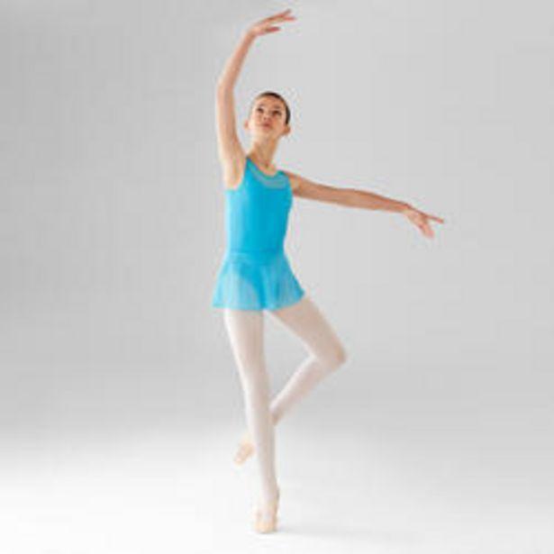 Oferta de Falda Ballet Domyos Niña Gasa Azul Turquesa por 3,99€