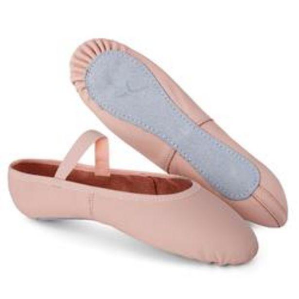 Oferta de Zapatillas de Ballet Domyos Suela Entera Piel Rosa por 8,99€