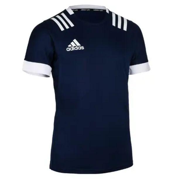 Oferta de Camiseta De Rugby Adidas 3S Hombre Azul por 26,99€