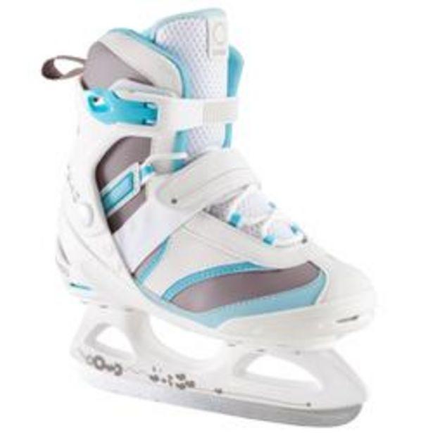 Oferta de Patín sobre hielo FIT 3 Mujer blanco azul por 31,99€