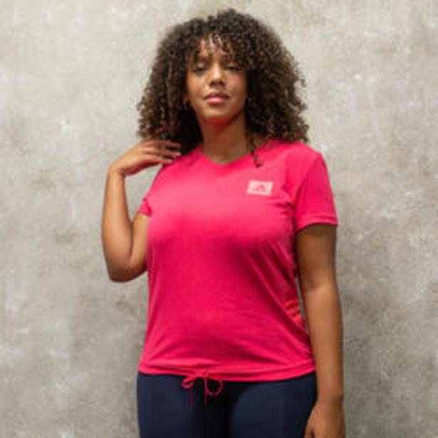 Oferta de Camiseta manga corta Adidas mujer Designed 2 Move rosa por 14,99€