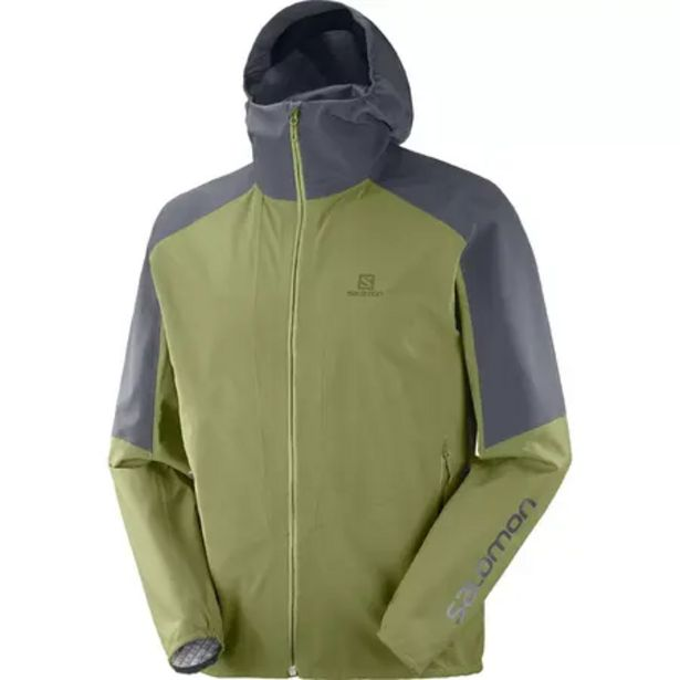 Oferta de Chaqueta impermeable de senderismo - Salomon Outline - Verde Gris Hombre por 139,99€