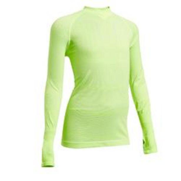 Oferta de Camiseta Térmica Kipsta Keepdry 500 niños amarillo fluorescente por 4,49€