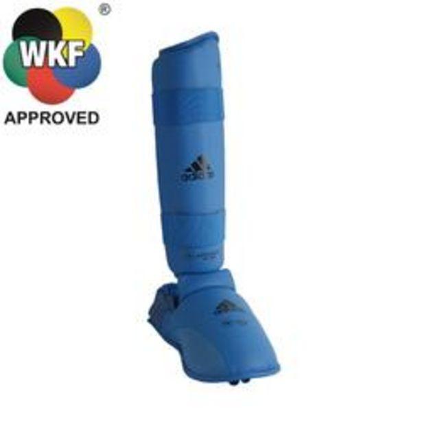 Oferta de Protector Tibia Pie Karate Adidas Adulto Azul por 29,99€