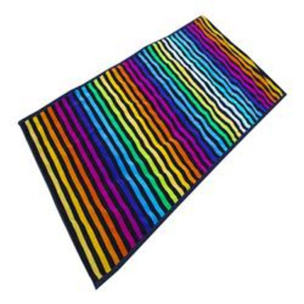 Oferta de Toalla de Playa Jaquard 100% Algodon Rayas Multicolor por 8,99€