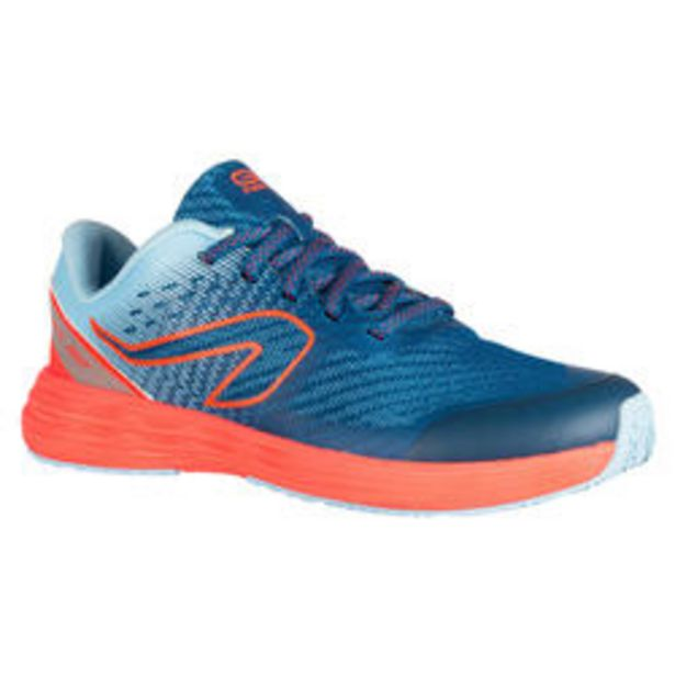 Oferta de Zapatillas Running y Atletismo Kiprun Fast Niños Azul/Naranja por 24,99€