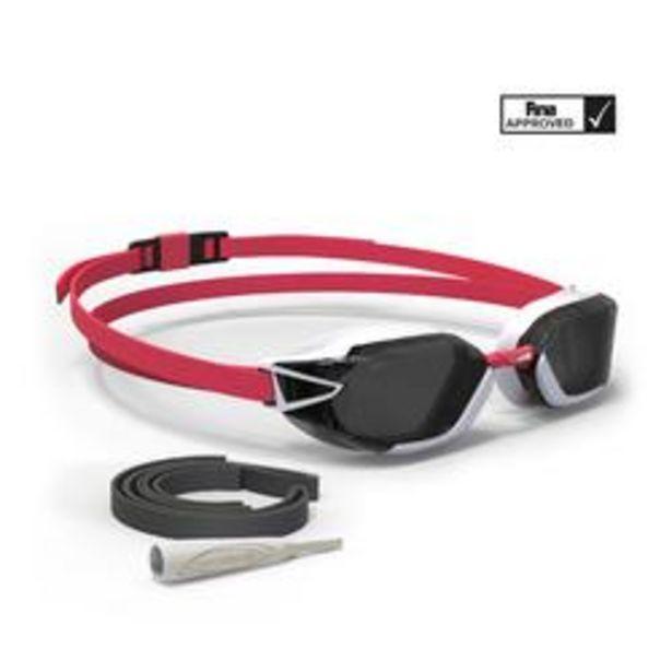 Oferta de Gafas De Natación 900 B-FAST Negro Rojo Cristales Ahumados por 14,99€