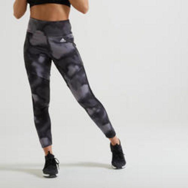Oferta de Mallas leggins Adidas mujer negro estampado por 27,99€