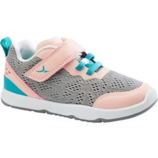 Oferta de Zapatillas Bebé flexibles Domyos I Move Breath+ 570 gris coral tallas 25 al 30 por 14,99€