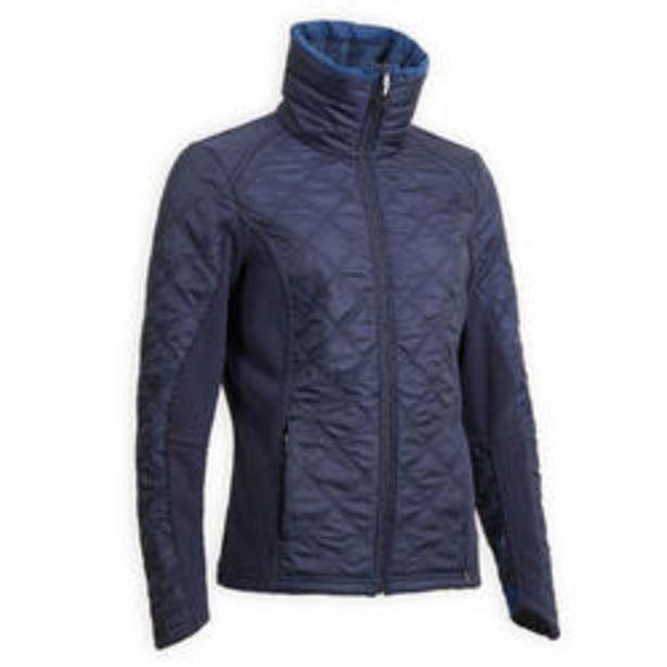 Oferta de Polar Equitación 500 Warm Mujer Azul Marino Bimaterial por 19,99€
