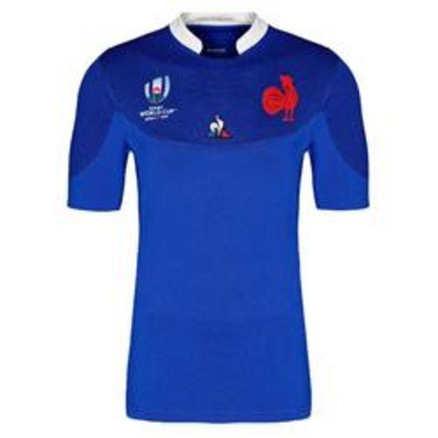 Oferta de Camiseta manga corta de rugby réplica FFR XV copa del mundo adulto azul 2019 por 54,99€