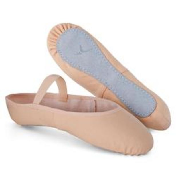 Oferta de Zapatillas de Ballet Domyos Suela Entera Piel Rosa por 5,99€
