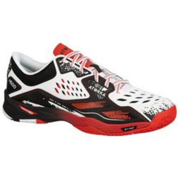Oferta de Zapatillas de Balonmano Atorka H500 Hombre Negro Blanco Rojo por 30,99€