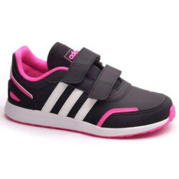 Oferta de Adidas Switch Niños Negro/Rosa Velcro Zapatillas Caminar por 24,99€