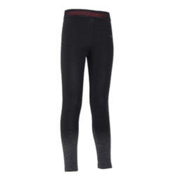 Oferta de Mallas Leggings técnicos S900 niña GIMNASIA INFANTIL negro, bajos grises por 12,99€