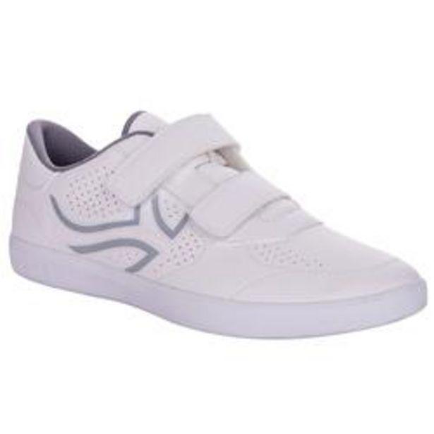 Oferta de Zapatillas Tenis hombre TS100 Tira blanco multi court por 4,99€