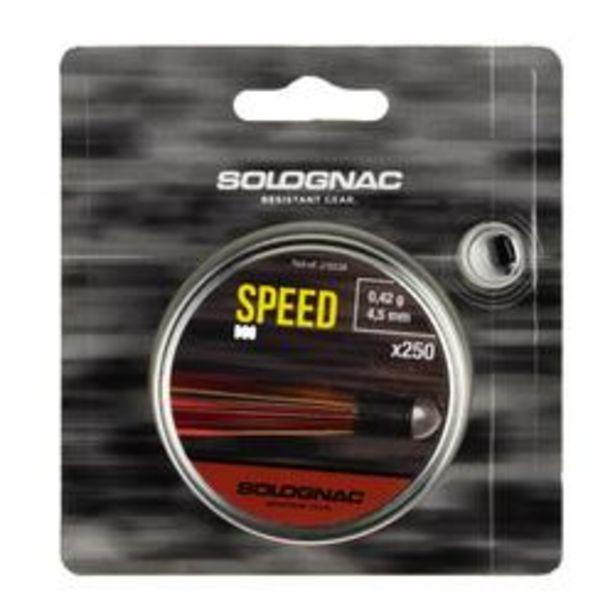 Oferta de Perdigones Tiro Deportivo Solognac Speed Calibre 4,5 mm 250 Unidades por 7,79€