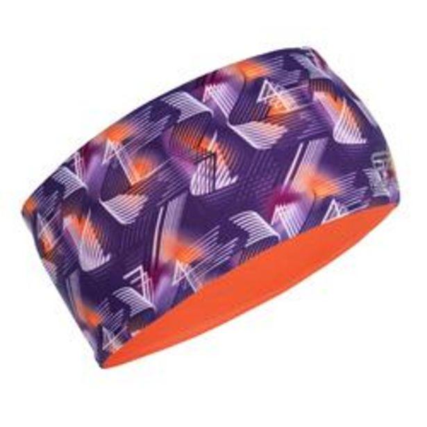 Oferta de Cinta Atletismo Niños Violeta/Rojo Coral Fluo Estampado Reversible por 2,99€