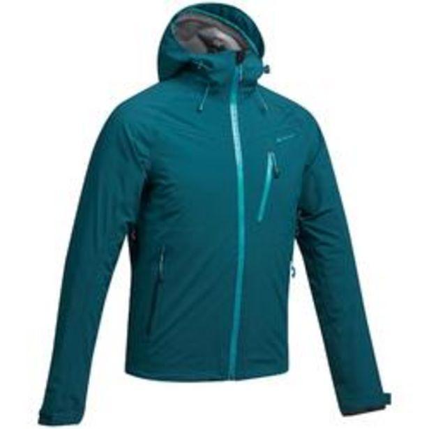 Oferta de Chaqueta lluvia Senderismo en la montaña MH500 impermeable hombre Azul oscuro por 47,99€