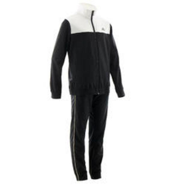 Oferta de Chándal niño niña Adidas gimnasia deportiva negro blanco por 22,99€