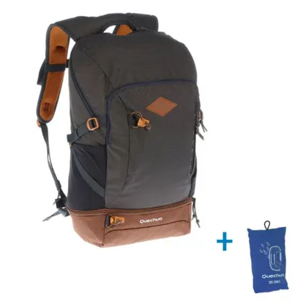 Oferta de Mochila Pequeña De Montaña y Trekking Qechua NH500 30L Gris Oscuro por 23,99€