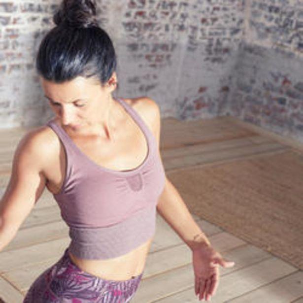 Oferta de Sujetador Deportivo Top Yoga Bajo Impacto con Relleno Rosa por 12,99€