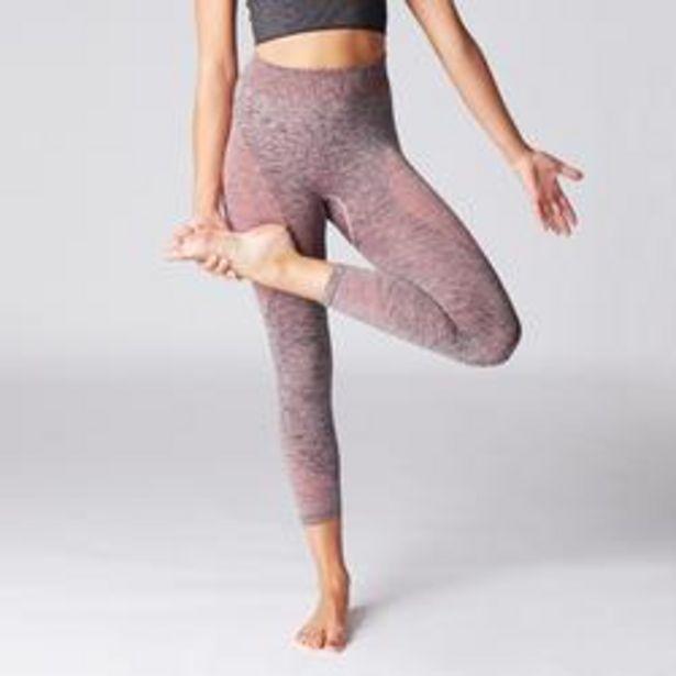 Oferta de Mallas Piratas Leggings Deportivos Yoga Domyos 500 Slim sin costuras Mujer Rosa por 8,99€