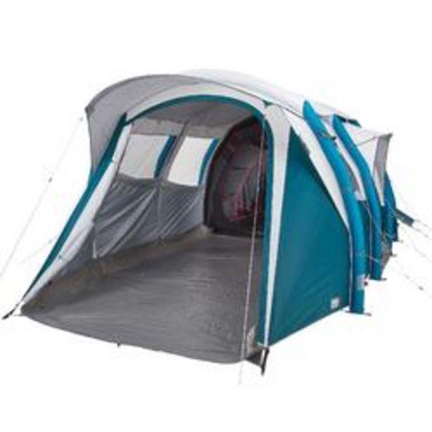 Oferta de Tienda de Campaña Hinchable Familiar Camping Quechua 6.3 Fresh&Black 6 Personas por 499,99€