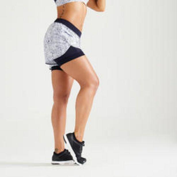 Oferta de Short fitness cardio training mujer blanco 900 por 12,99€