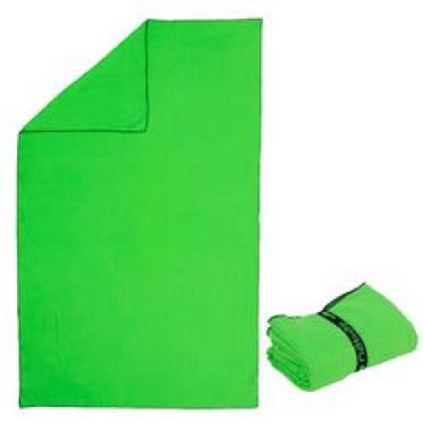 Oferta de Toalla Baño Piscina Natación Nabaiji Verde Rayas Microfibra Talla L por 3,99€