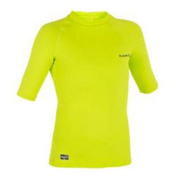 Oferta de Top Camiseta Proteción Solar Playa Surf Olaian Uvtop100 Niño Varde Ácido ANTI-UV por 4,49€